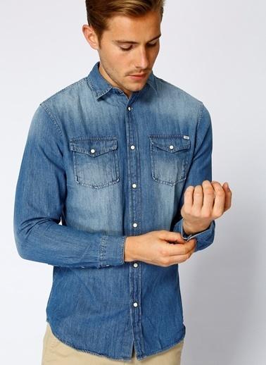 Jack & Jones Jean Gömlek Mavi